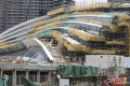 Construction work nearing completion on the West Kowloon Terminus of the high-speed rail link. Photo: Felix Wong