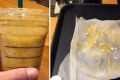 Pictures of a Starbucks Mango Banana Blended beverage containing dozens of plastic particles that a pregnant consumer uploaded on an online community. Photo: Nate Pann