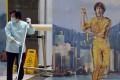 Bruce Lee murals seen at the Hong Kong International Airport. Photo: K. Y. Cheng