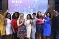 Contestants, organisers and judges at Pitch Like a Girl, a competition for start-ups founded by women.