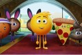Gene (centre, voiced by T.J. Miller) in The Emoji Movie (category I), directed by Tony Leondis and also featuring the voice of James Corden.