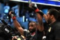 Tyron Woodley celebrates his win over Demian Maia at UFC 214. Photo: AFP