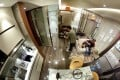 A 360-degree view of the Seven Victory Avenue's 263-sq ft show flat. Photo: Martin Chan