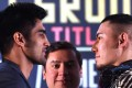India's Vijender Singh faces off against China's Zulipikar Maimaitiali in 'Battleground Asia' on Saturday night in Mumbai. Photos: AFP