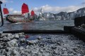 The congealed substance was also spotted in Victoria Harbour. Photo: Nora Tam