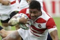 Japan's Amanaki Mafi in action at the World Cup. Photo: AP