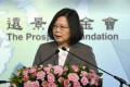 Taiwan's President Tsai Ing-wen issued her plea to Beijing at a conference in Taipei. Photo: AFP