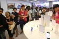 Customers queuing up on the first day when Apple's iPhone 6 and iPhone 6 Plus models went on sale at Studio A in Tsim Sha Tsui on September 19 in 2014. Photo: SCMP
