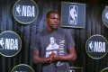 Kevin Durant was named Most Valuable Player of the NBA Finals. Photo: AP