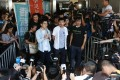 (Left to right) Nathan Law, Joshua Wong and Alex Chow were all jailed over the protest in 2014. Photo: Sam Tsang