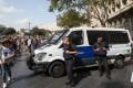 Spanish policemen patrol in the Las Ramblas area of Barcelona, Spain. Photo: Xinhua