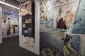 The comic illustration display at the Very Hong Kong Very Hong Kong exhibition at Comix Home Base in Wan Chai.