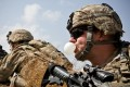 A US Army soldier chews gum during an operation in Kandahar Province in 2013. File photo: Reuters