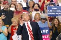 """US President Donald Trump soaks up the adulation of his supporters at a """"Make America Great Again"""" rally in Phoenix, Arizona, on Tuesday. Photo: AFP="""