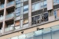 Four flats were damaged during the incident. Photo: K. Y. Cheng