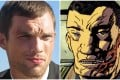 Ed Skrein in Transporter, and Major Ben Daimio in a Hellboy comic image.