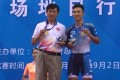 Hong Kong's Leung Chun-wing (right) and his coach Shen Jinkang celebrate winning gold in the men's omnium at the National Games in Tianjin. Photo: Handout