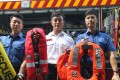 (From left) Yau Tong Fire Station fireman Suen Yat-hing, station officer Poon Sung-fong and senior fireman Choi Ho. Photo: K. Y. Cheng
