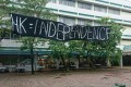 A banner reading 'HK Independence' seen at Chinese University of Hong Kong in Sha Tin. Photo: Handout