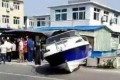 The scene of the accident in Dalian on Sunday. Photo: Handout