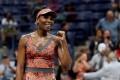 Venus Williams of the US celebrates her defeat of Carla Suarez Navarro of Spain. Photo: Reuters