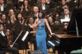 Yuja Wang receives applause for her performance of Tchaikovsky's Piano Concerto No. 1 with the Hong Kong Philharmonic Orchestra on Friday. On Wednesday she plays chamber music with orchestra players including concertmaster Jing Wang (front, left). Photo: Cheung Wai-lok