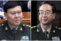Zhang Yang (left) director of the military's political work department and Fang Fenghui, former chief of the Joint Staff Department, are not among the delegation to attend the party congress. Photo: SCMP Pictures