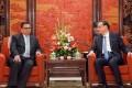 Deputy Prime Minister of Nepal Krishna Bahadur Mahara meets Chinese Premier Li Keqiang in Beijing on Thursday. Photo: Reuters