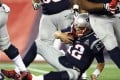 Tom Brady reacts after being sacked during the second half by the Kansas City Chiefs defence at Gillette Stadium. Photo: AFP