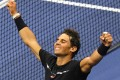 Rafael Nadal of Spain celebrates victory over Juan Martin del Potro of Argentina in their 2017 US Open Men's Singles semi-finals match at the USTA Billie Jean King National Tennis Center in New York on September 8, 2017. Photo: AFP