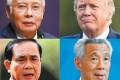 Clockwise from top left: Malaysia's Najib Razak, America's Donald Trump, Singapore's Lee Hsien Loong, Thailand's Prayuth Chan-ocha. File photos