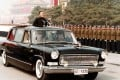 Deng Xiaoping travels in a Hongqi limousine while reviewing the troops at Tiananmen Square during the National Day parade in 1984. Photo: Xinhua