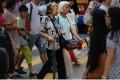 Elderly pedestrians crossing the road in Causeway Bay. Photo: SCMP