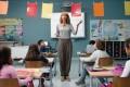Cate Blanchett plays a teacher in a still from Manifesto (category IIA). directed by Julian Rosefeldt.