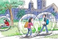 Social media in particular creates a bubble for students. They listen only to views that are the same as theirs, they form peer groups around social media platforms, thus sealing the bubble even more, and they constantly have their views reinforced. Illustration: Craig Stephens