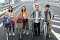 (From left) Wakana Aoi, Eri Fukatsu, Fumiyo Kohinata and Yuki Izumisawa play a family in Survival Family (category I; Japanese), directed by Shinobu Yaguchi.