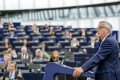 European Commission President Jean-Claude Juncker chairing key debate on the State of the Union 2017 in Strasbourg, France. Photo: EPA