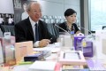 Michael Hui King-man (left) and Gilly Wong Fung-han of the Consumer Council on Thursday. Photo: Edward Wong