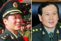 Lieutenant General Zhou Yaning (left) has taken over as commander of the Rocket Force, replacing General Wei Fenghe. Photo: Handout