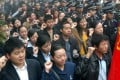 """The Communist Youth League of China, members of which are seen in this file photograph, said in its first tweet that it would use Twitter to """"deliver information about the league and on issues of interest to young people"""". Photo: AP"""