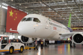 The first C919 passenger jet made by the Commercial Aircraft Corporation of China (Comac) is pulled out next to a Chinese national flag during a news conference at the company's factory in Shanghai in 2015. Photo: China Daily/Reuters