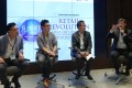Paul Jung (far right), Visa's head of products and digital innovation for Northeast Asia, speaks at a panel discussion at the Game Changers conference. Also on the panel (from left) are Joseph Yuen, the chairman of the Hong Kong Federation of E-Commerce; Andrew Lo, the founder of Hong Kong-based payment solutions provider EFT Payments; and Joseph Chan, the chief executive at electronic payment service Asiapay. Photo: SCMP