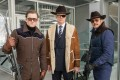(From left) Taron Egerton, Colin Firth and Pedro Pascal in Kingsman: The Golden Circle (category IIB), directed by Matthew Vaughn and also starring Mark Strong.