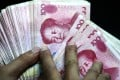 The Chinese currency has risen 5.7 per cent this year to 6.5717 per dollar, offsetting most of last year's decline. Photo: Cpressphoto