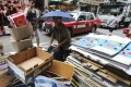 Cardboard being collected in Wan Chai, on September 18. Photo: Felix Wong