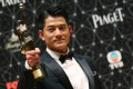 Aaron Kwok wins the best actor prize at the 35th Hong Kong Film Awards in 2016. Photo: Edward Wong