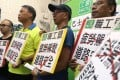 On Sunday, members of the Federation of Bus Industry Trade Unions voiced their concerns about driver fatigue arising from long working hours. Photo: David Wong