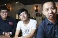 Regan Suen (left), Tim Wong (centre) and Ambrose Peter Law at Roasters Alchemy, Tsim Sha Tsui. Photo: Xiaomei Chen