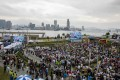 Fans swarm at the e-Village during last year's Hong Kong e-Prix. Photos: Handout