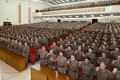 North Korean military officers vow to wage a sacred war against the US at a meeting in Pyongyang in this undated photo released by North Korea's KCNA news agency on September 22. Photo: Reuters.